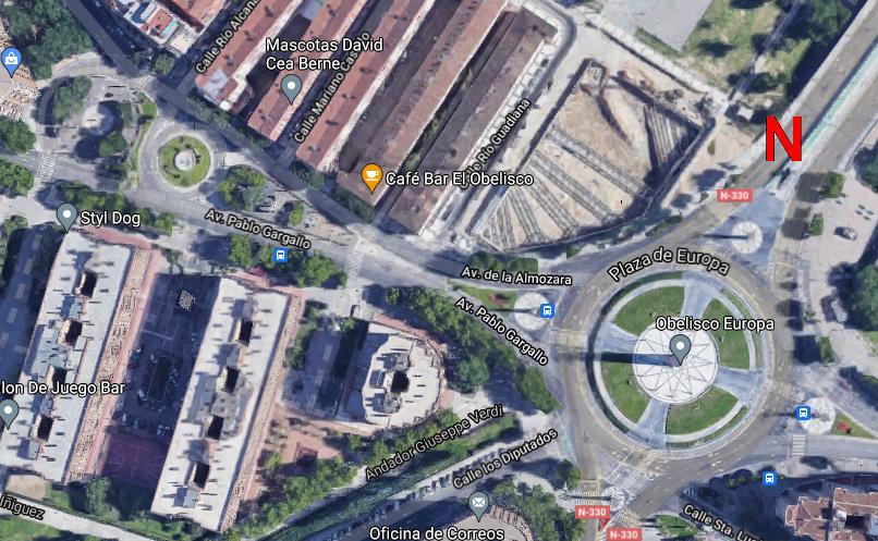 mapa plaza europa zaragoza